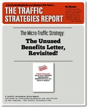 The Traffic Strategy Report: The Unused Benefits Letter - Revisited!