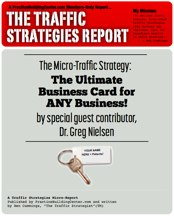 The Traffic Strategy Report: The Ultimate Business Card for ANY Chiropractic Business!