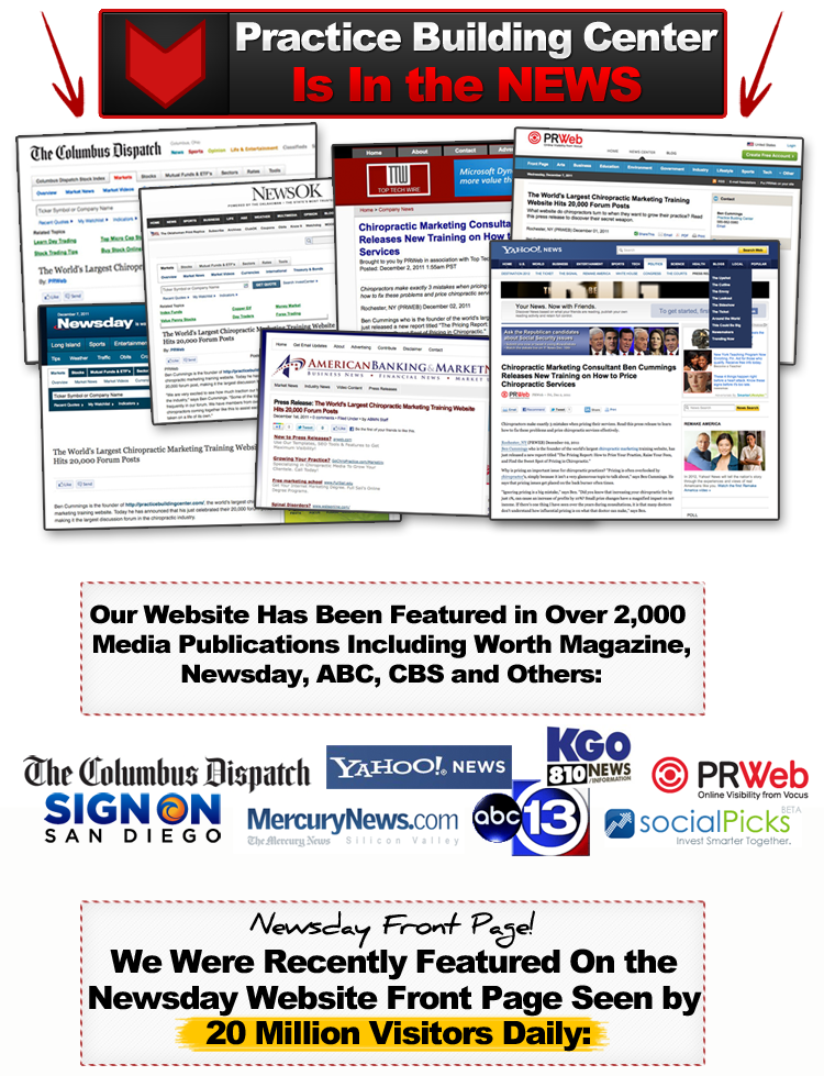 chiropractic marketing newsday